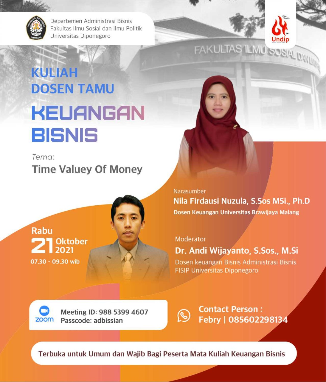 """Guest Lecturer Class of Business Finance """"Time Value Of Money"""""""